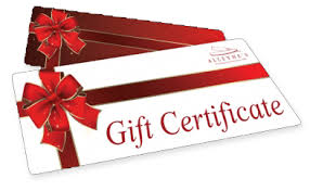 gift certificates gift certificates 25 50 75 or 100 options