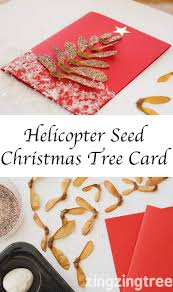 how to make a helicopter seed christmas tree card trees crafts