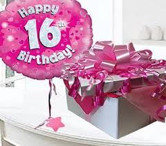 birthday balloons in a box happy 16th birthday balloon in a box code jgf16h16bbb 16 year