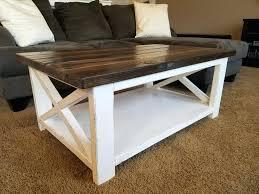 Unique Rustic Coffee Tables White Rustic Furniture The Inside Edge
