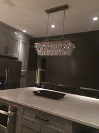 Kitchen Island Chandelier Lighting The Island Chandelier Pottery Barn Clarissa Glass Drop Extra Long