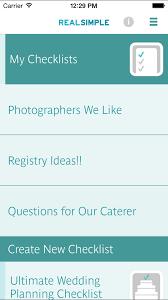Simple Wedding Planning Real Simple Wedding Checklist