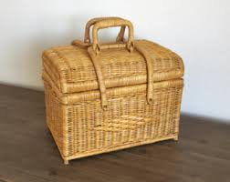 vintage picnic basket picnic baskets bags etsy