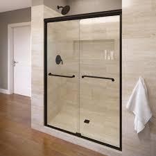 Towel Bar For Glass Shower Door Infinity 47 In X 70 In Semi Frameless Sliding Clear Glass Shower