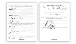 calligraphy flourishing for beginners free worksheet the