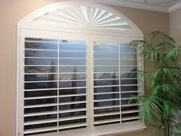 interior design polywood plantation shutters with sunburst