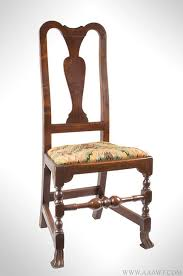 Queen Armchair Antique Furniture Chairs Early Country Pilgrim American