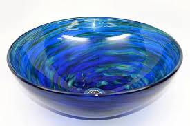 blue glass vessel sink blue water blown glass vessel sink sinks gallery
