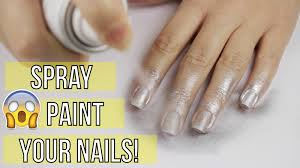 spray painting your nails youtube