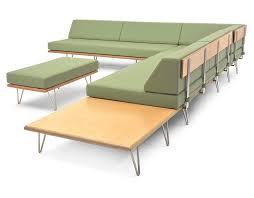 Hive Modern Furniture by Case Study V Leg Corner Table Hivemodern Com