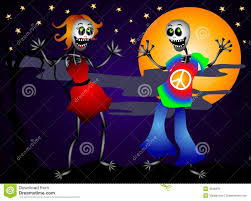 dancing halloween skeleton background halloween dancing skeletons royalty free stock image image 3238376