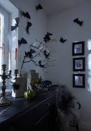 Diy Halloween Wall Decorations Diy Halloween Decorations Party Black Paper Bats Branches Walls