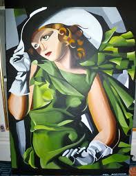 Tamara De Lempicka Art by Tamara De Lempicka Jeune Fille En Vert Copy By