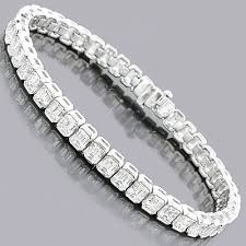 diamond emerald bracelet images Emerald cut diamond tennis bracelet 16ct platinum jpg