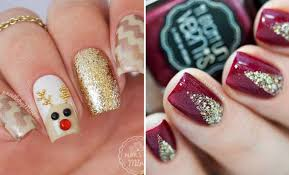 29 easy winter and christmas nail ideas stayglam