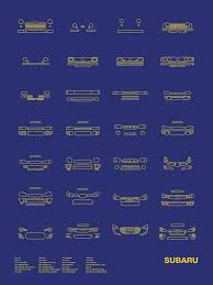 auto icon screen print series subaru subaru subaru auto and cars