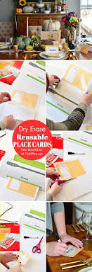 printable place cards laminated place cards diy tidymom