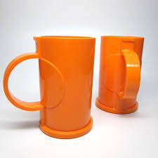 design plastic mug dansk orange mug pair gunnar cyren design via etsy and they are