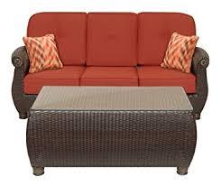 Patio Furniture Resin Wicker by Amazon Com La Z Boy Outdoor Breckenridge Resin Wicker Patio