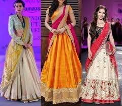 Different Ways Of Draping Dupatta On Lehenga How To Wear A Half Saree U0026 Look Stunning Saree Guide