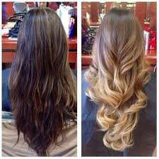 does hair look like ombre when highlights growing out before pic is partial highlights that were done by heather in