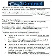 Dj Resume Resume Cv Cover Letter by Event Contract Agreement Event Contracts 2 Important Contract
