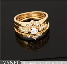 aliexpress buy new arrival hight quality white gold 3 circles high quality eternity cz ring set white gold color