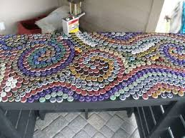 beer cap table top bottle cap countertop would make a cool outside bar outside