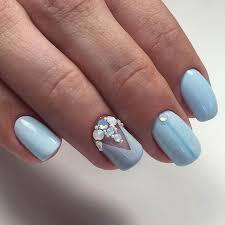 Rhinestone Nail Design Ideas 10 Elegant Nail Art Designs For Prom 2017 9 Pastel Blue