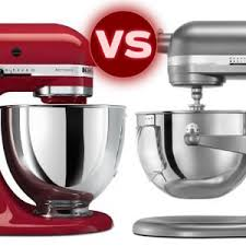 Kitchen Aid Standing Mixer by The Kitchenaid Artisan Stand Mixer Vs Professional 600 Series