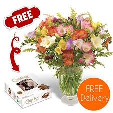 fresh flower delivery fresh flowers delivered free uk delivery 30 mixed freesias