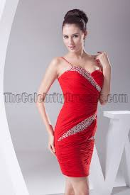 red mini beaded party cocktail homecoming dresses