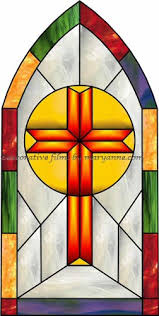 Decorative Window Film Stained Glass Chapel Cross Faux Privacy Stained Glass Clings And Window Films