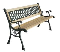 Wrought Iron Bench Wood Slats Impressive Iron And Wood Garden Bench New 3 Seater Outdoor Home