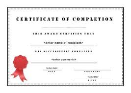 completion certificate format completion certificate template 33