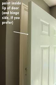 how to paint an exterior door as in shut the front door
