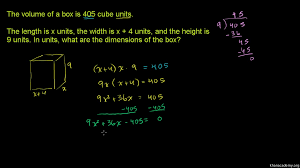 quadratic equations word problem triangle dimensions video