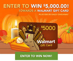 5 000 walmart gift card thanksgiving sweepstakes at totally free