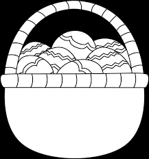 blank easter baskets blank black and white basket of easter eggs clip blank black