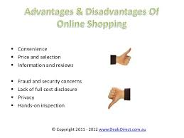 stores online advantages and disadvantage of online shopping