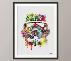 star wars poster watercolor star wars painting illustration zoom
