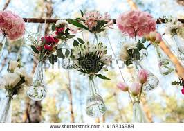 wedding flowers decoration images wedding flowers decoration arch forest idea stock photo 567843847