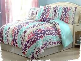Girls Bed In A Bag by Girls Bedding Blue Pink Purple Leopard Bed In A Bag Comforter Set