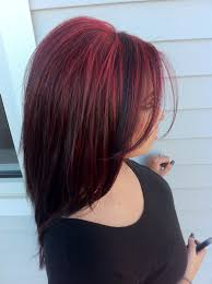 mahogany red hair with high lights pretty bright red hair highlights used paul mitchell hair color