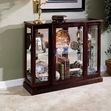 Antique Curio Cabinet With Clock Curio Cabinets You U0027ll Love Wayfair