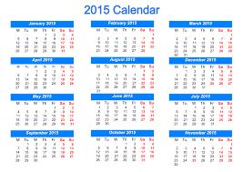 printable blank calendar template 2015