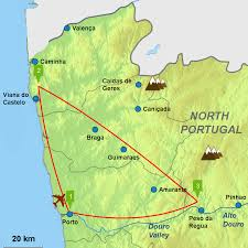 Portugal Spain Map by One Week Tour North Portugal Caminos Touring Holiday Spain