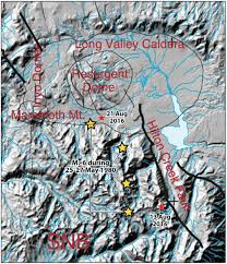 Mammoth Map A Second Earthquake Swarm Hits West Of The Hilton Creek Fault In