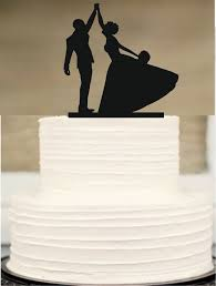 wedding cake topper silhouette wedding cake topper bride and