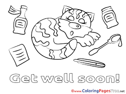 kids get well soon coloring pages of get well soon fresh cat kids get well soon